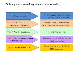 7 solving a system of equations by elimination