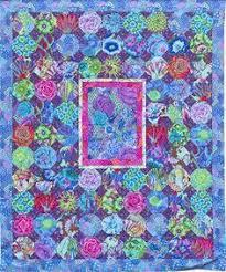 Kaffe Fassett Spring Floral Parade Kit, 66x66 inches, pattern in ... & Blue Chintz Quilt, snowballs in Kaffe Fassett Fabrics at Glorious Color Adamdwight.com