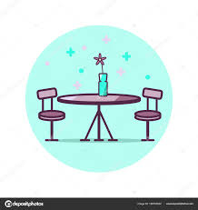 flyers logo outline loft room table icon restaurant table icon simple outline table
