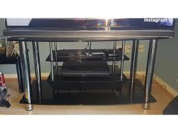black glass tv stand argos home matrix in cardiff