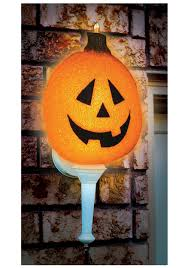 Pumpkin Yard Light Cover Sparkling Jack O Lantern Porch Light Cover Outdoor