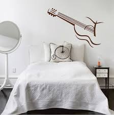 guitar vinyl wall decal design zoom