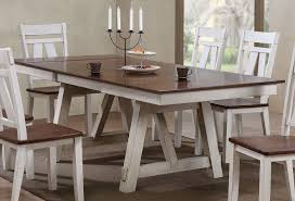 Winslow Rectangular Dining Set W Cherry Chairs And Bench Two Tone