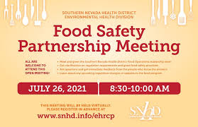 The nevada food handler card course materials were obtained through shared media provided to the public by the southern nevada health district (snhd). Food Safety Partnership Meeting Las Vegas Southern Nevada Health District