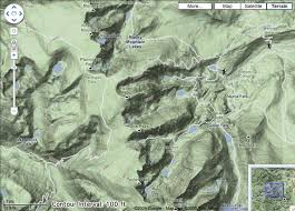 google maps add the contour interval to the legend of your Baton Rouge Google Maps google map of the continental divide in rocky mountain national park at z=13 with google maps baton rouge la