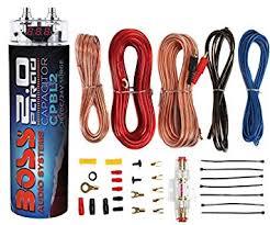 amazon com boss cpbl2 2 farad car digital voltage capacitor power boss cpbl2 2 farad car digital voltage capacitor power audio cap 8 ga amp kit