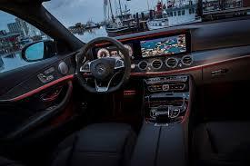 mercedes benz e class estate 2016 black e43 amg interior night ambient light