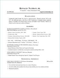 Resume Examples For Highschool Students Cool Examples Of High School Resumes Unique Resume Examples For