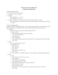Resume Set Up How To Set Up A Resume For A Job Resume For Study