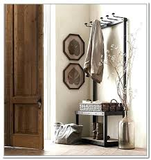 Foyer Benches With Coat Racks Entry Storage Bench With Hooks Coat Racks Astounding Entryway Rack 13
