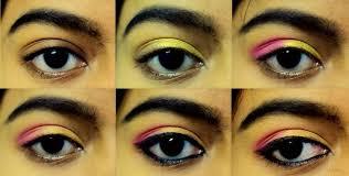 pink gold eye makeup tutorial