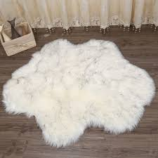 muzzi artificial sheepskin carpet for living room bedroom rugs skin fur plain fluffy area rugs
