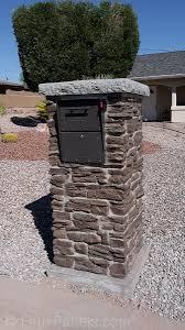 residential mailboxes. MB8. Ashford Ledgestone Brown Column Residential Mailboxes 0
