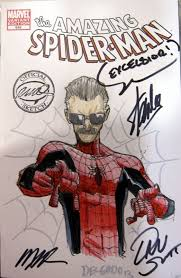 stan lee as spider man mission by humberto ramos