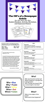 Newspaper Article Template Worksheets Template Newspaper Article Writing Template For Students Printable