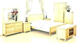 White Wood Bedroom Set Oak Bleached Furniture Light Full Size Sets ...