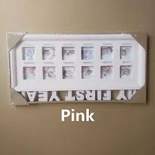 images gallery generic my first year baby photo frame picture display 12 months keepsake collage wood