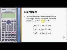 solve quadratic equation using