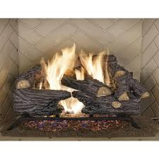 18 in split oak vented natural gas log set