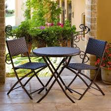 best black resin patio furniture set with round table and 2 chairs for cozy candle night ideas