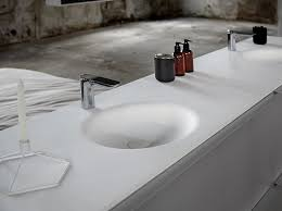 solid surface washbasin with integrated countertop ka washbasin with integrated countertop by inbani