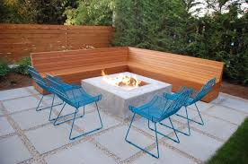 wood patio ideas on a budget. Fine Patio Dazzling Modern Backyard Patio Decor Ideas With L Shape Brown Wooden  Bench Combine Blue Iron  For Wood On A Budget B