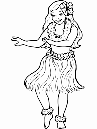 Small Picture Printable Hula People Coloring Pages Coloringpagebookcom