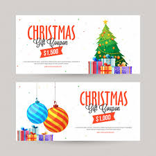 Christmas Gift Coupon Christmas Gift Voucher Vector Premium Download