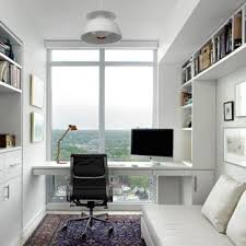 small office design ideas. Study Room - Small Scandinavian Built-in Desk Idea In Toronto With White Office Design Ideas S