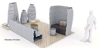 cement furniture. Thai Artist And Designer Anon Pairot Has Designed An Outdoor Terrace Consisting Of 3D Printed Concrete Furniture Decorations. Cement R