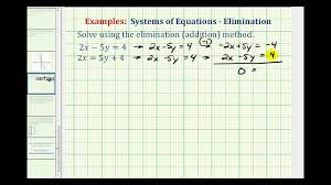 ex system of equations using elimination infinite solutions