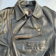 motorcycle jacket mens classic brando style mars leather