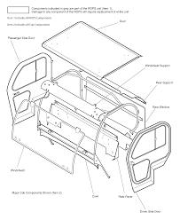 Woods mav 4x4 utility vehicle utility vehicle rops cab assembly