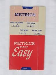 American Slide Chart Co Vintage Advertising Metrics Made Easy Slide Chart North