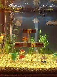 Mario Brothers Aquarium Decorations Amazing Super Mario Bros Aquarium Pics Global Geek News