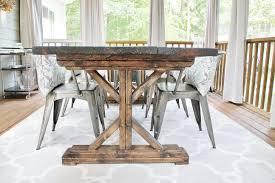 Home Design  White Brick Wallpaper Tumblr Closet Designers - Diy rustic dining room table