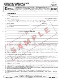 Printable Simple Real Estate Contract Template Free Sample Purchase ...