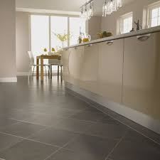Kitchens With Gray Floors Cream Kitchen Cabinets With Dark Countertops And Grey Floors