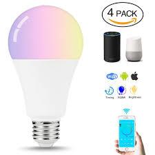 Speaker Light Bulb Alexa Cr70 4pcs Led Bulb E27 Smart Lamp Wifi Bulb 7w Rgb App
