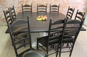 square tables built from reclaimed wood 72 x 72 square dining table with black finish and white pedestal base