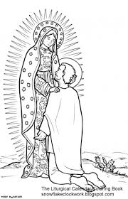 Our Lady Of Guadalupe Coloring Sheet