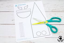 Elf Finger Puppet Craft With Printable Template Kids Craft