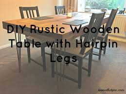 diy tutorial rustic dining table with hairpin legs