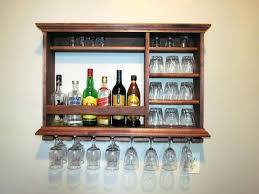 wall mounted bar medium size of fabulous hanging liquor rack unit image table