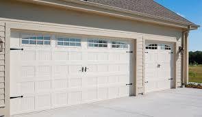 almond garage doorGarage Door  52XX with 4 Piece Arched Stockton Windows Almond