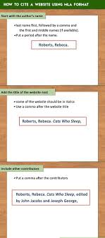 How To Cite A Website Using Mla Format Practical Information