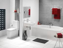 Modern White Bathroom Suites Ideas With Mosaic Tile Walls - Mosaic bathrooms