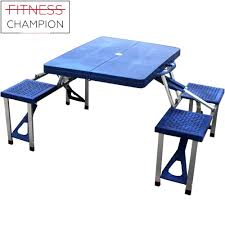 fitchamp cloud portable easy foldable meco picnic table with 4 seats