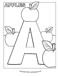 Small Picture Alphabet Coloring Pages For Kindergarten Alphabet Coloring Sheets