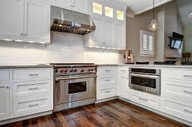 White Kitchen Shaker Cabinets Robert Paige Cabinetry Custom Shaker Home Kitchen Cabinets